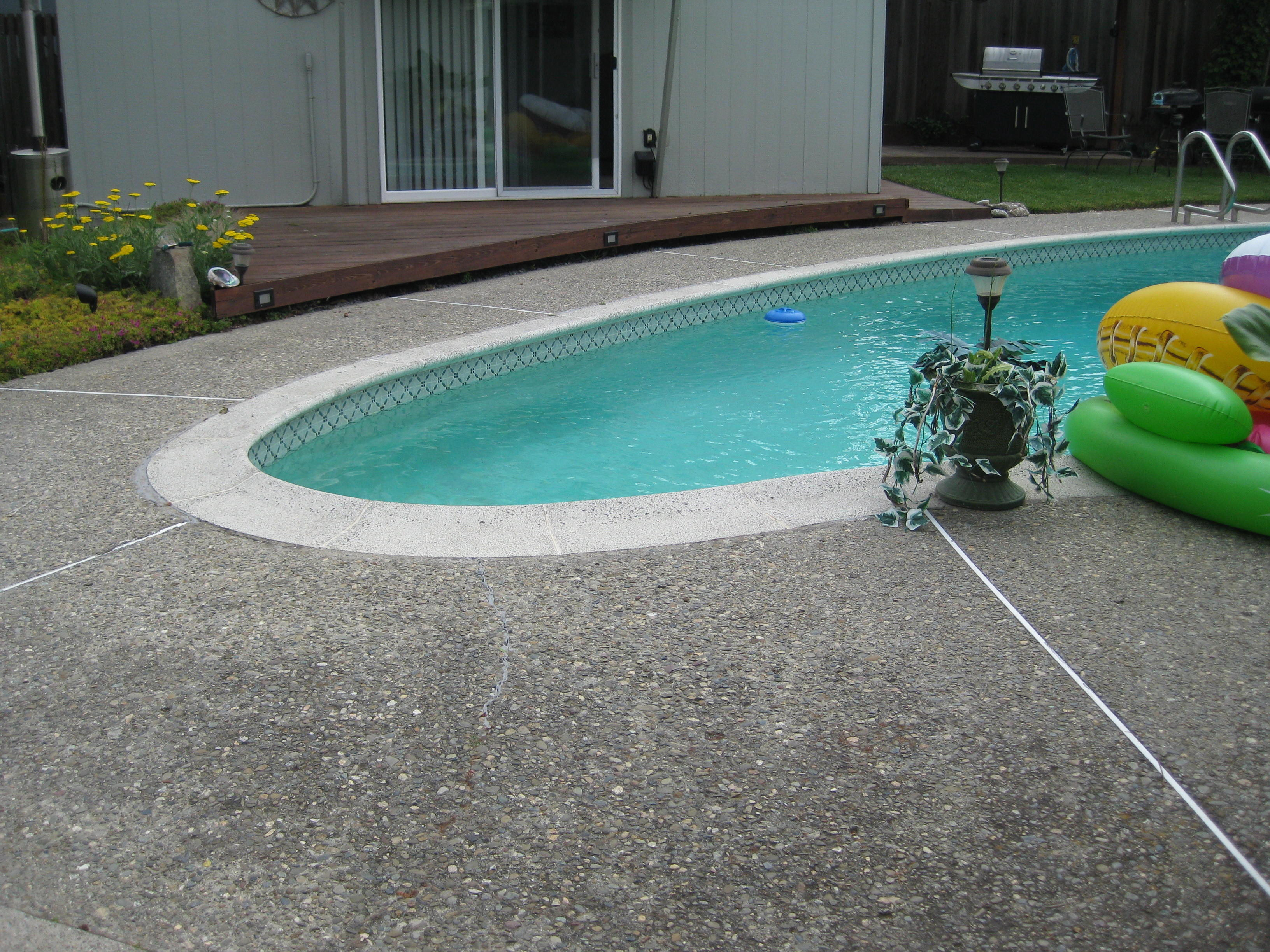 Sealing exposed aggregate pool deck - Exposed Aggregate Around Pools Perth Round Designs