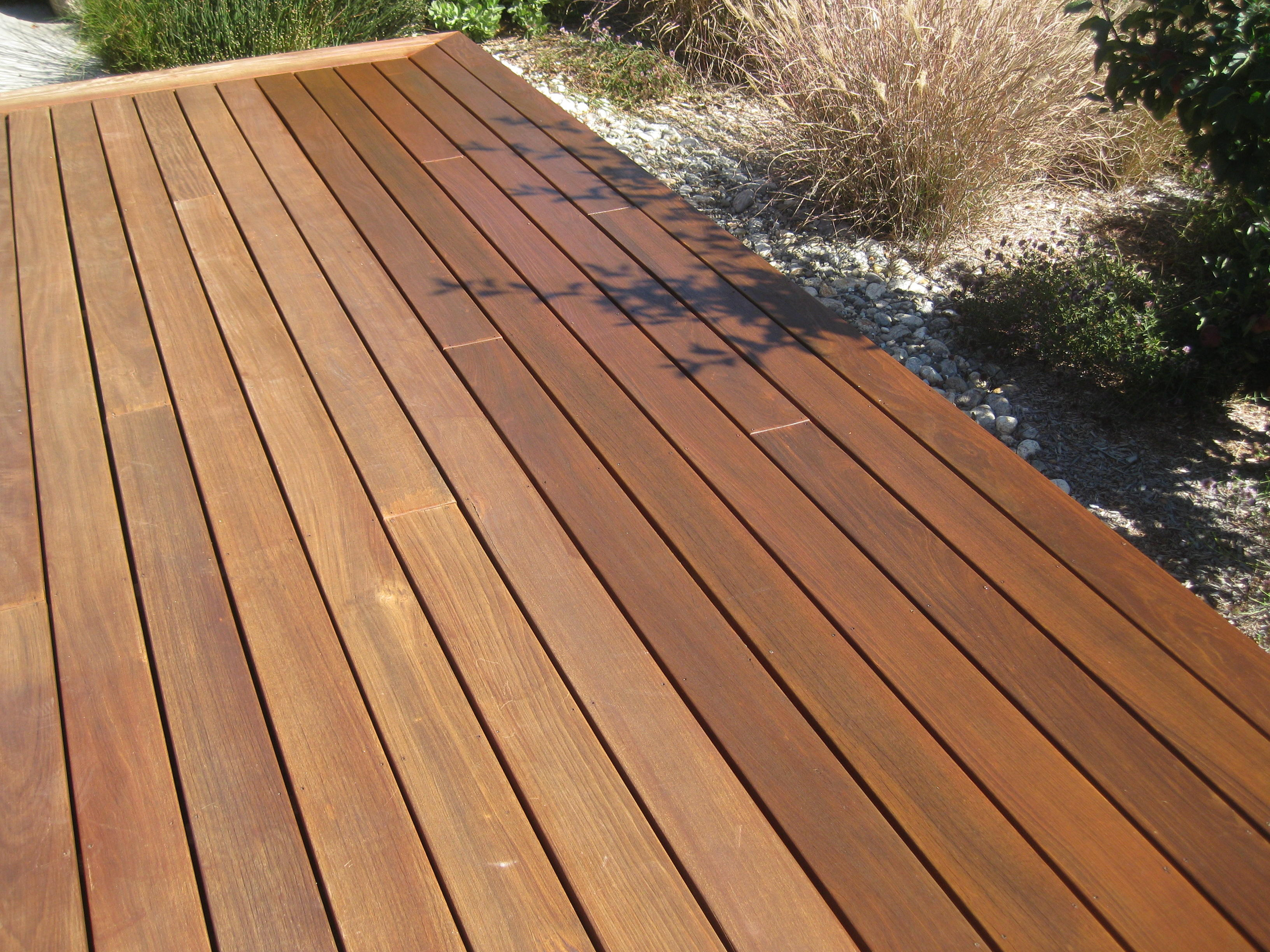 Cleaning santa cruz deck work for Hardwood outdoor decking